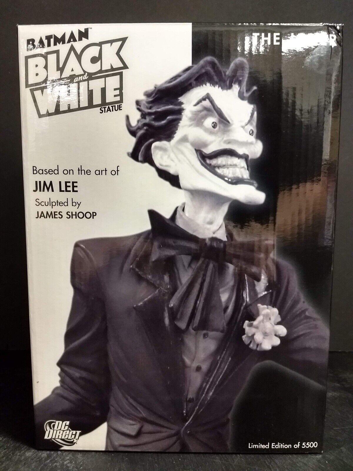 DC blancoo y negro el Guasón Direct Estatua Arte De Jim Lee Tamp 0079