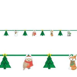Natale-Inverno-Amici-a-nido-d-039-ape-3d-Albero-Ghirlanda-Striscione-Festa-Decorazione