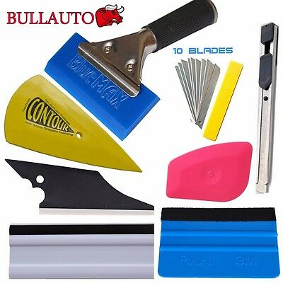 8in1 Squeegee Car Window Tinting Auto Film Install Wrapping Applicator Tools Set