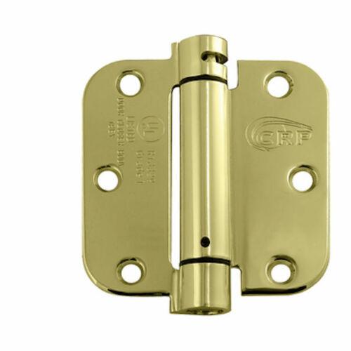 Cal-Royal NEWSH3558R 3-1//2 in.Full Mortise Spring Hinge in Bright Brass 2Per Box