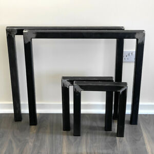 Set of 2 Industrial Steel Table Legs A Frame Dining//Bench//Office//Desk Furniture