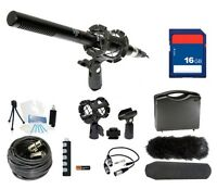 Microphone Broadcasting Kit + 16gb Sd Memory Card For Canon Rebel T5i 100d Sl1
