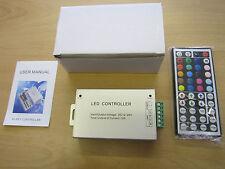 44-Key LED Controller + Remote Input/Output 12V-24V 12A for LED RGB Strip Light