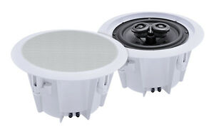 e-audio-Domestic-Commercial-Use-5-25-2-Way-Ceiling-Speakers-8-Ohms-80W-PAIR