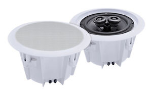 e-audio-Domestic-amp-Commercial-Use-5-25-034-2-Way-Ceiling-Speakers-8-Ohms-80W-PAIR
