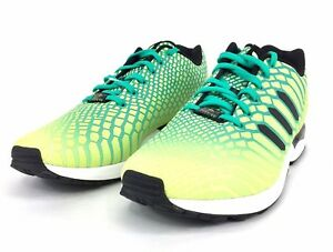 Details about Adidas Original Zx Flux Xeno Frozen Yellow Shock Mint White AQ8212 Mens Size 12