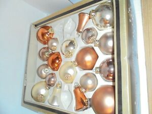 Browns-Tans-Earth-tone-Glass-VINTAGE-German-Christmas-Ornaments-19-Feinster