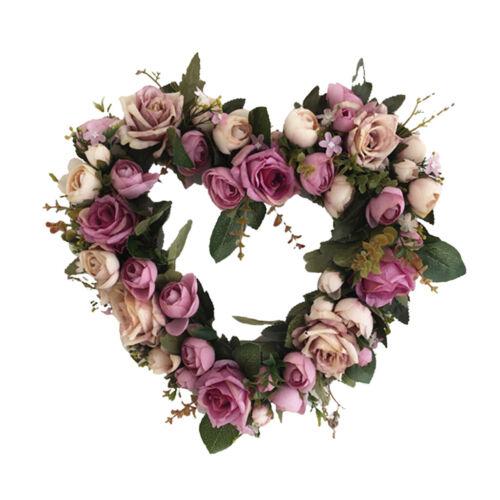 Romantischer Türkranz Wandkranz Kunstblumen Kranz Dekokranz für Haus Büro