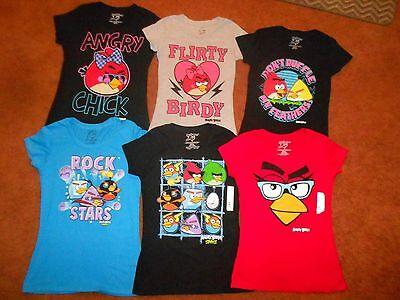 New ANGRY BIRDS womens juniors T-shirts Tee S M L XL XXL sz