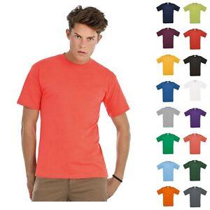 B-amp-C-T-Shirt-Herren-Exact-150-Kurzarm-Classic-Shirt-kurze-Armel-Mann-Groesse-S-4XL