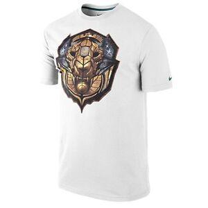 """88d96cc9 Nike LeBron James """"Merit Badge"""" Dri-Fit T-Shirt White Men's Large ..."""