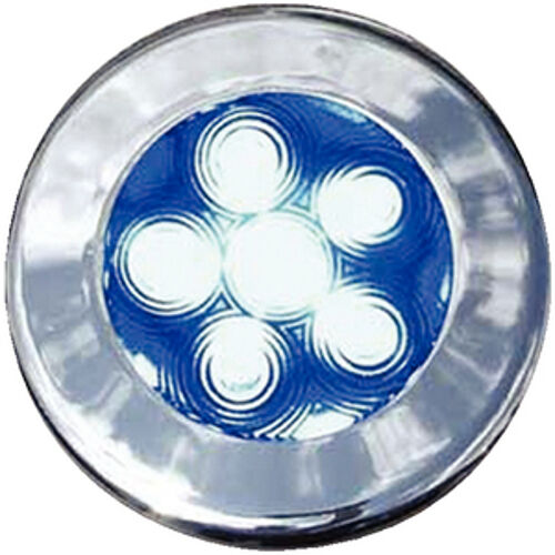 3 Inch Blue LED Color Flush Mount Courtesy Accent and Utility Light for Boats