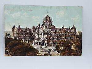 Victoria-Terminus-G-I-P-Bombay-Antique-Postcard