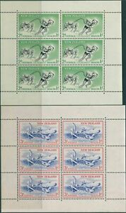 New-Zealand-1957-SG762b-Health-Lifesavers-and-Children-set-of-2-MS-MNH