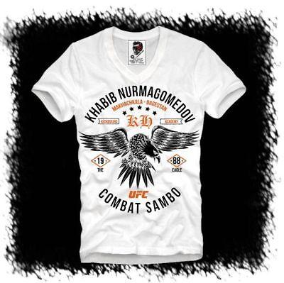 E1SYNDICATE T-Shirt KHABIB NURMAGOMEDOV THE EAGLE MMA UFC RUSSIA  DTG 3958