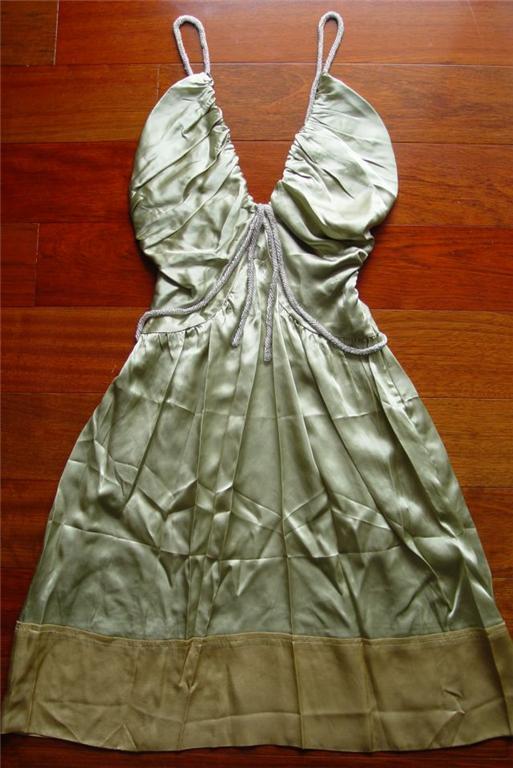 Chloe Green Silk Beaded Dress 4