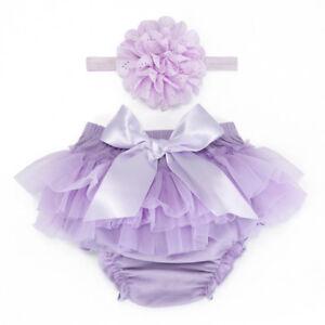 5a5d6edb9751 Newborn Baby Girl Romper Bodysuit Tutu Headband Shorts Pants Outfits ...