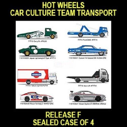 HOT WHEELS 2019 CAR CULTURE RELEASE F  4CAR TRUCK CASE