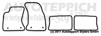 Avant Bj 1994-2001 Fußmatten meliert für Audi A4 B5 S4 8D inkl
