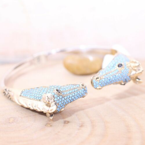 Details about  /925 Sterling Silver Handmade Turkish Onyx and Turquoise Bracelet Bangle Cuff