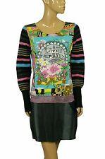 93312 New Savage Culture Printed Floral Printed Long Sleeve Dress Large L 10