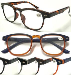 L867-Stylish-Reading-Glasses-Matte-Brow-Frame-Spring-Hinges-Vintage-Retro-Design