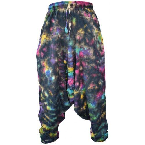 Mens Vintage Hippy Boho Aladdin Harem Wideleg Ninja Pants Trousers Cotton