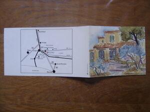 Image Is Loading Ancienne Carte Visite Depliant ALAIN NICOLET Menu Restaurant