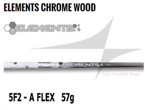 Nuevo Ust Mamiya elementos Cromo 5 F2  Woods Eje Senior Flex 0.335 Punta Od - 57g  compras online de deportes