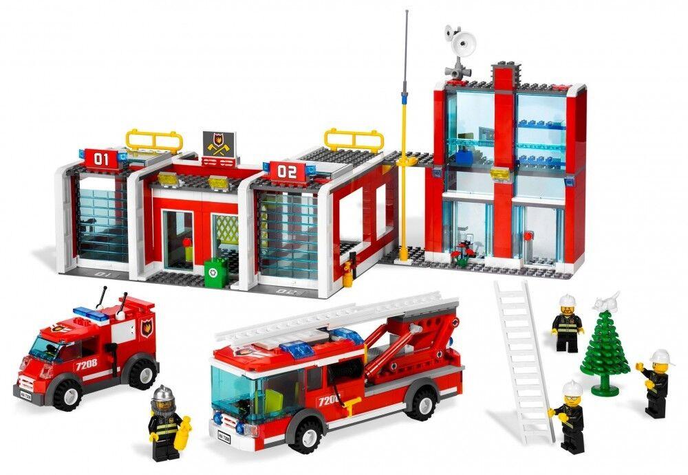 Lego 7208 - City   La Caserne Des Pompiers