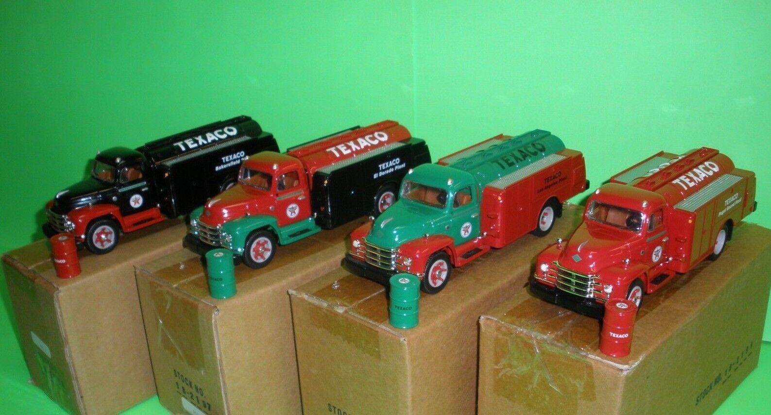 Texaco First Gear 1955 Diamante T camión cisterna completa 4 pieza conjunto de refinería