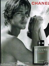 Publicité advertising 2012 Parfum Homme Sport  Allure de Chanel