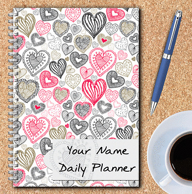 DAILY SCHEDULE A5 PERSONALISED DAILY PLANNER JOBS TO DO LIST JOURNAL PLAN,13