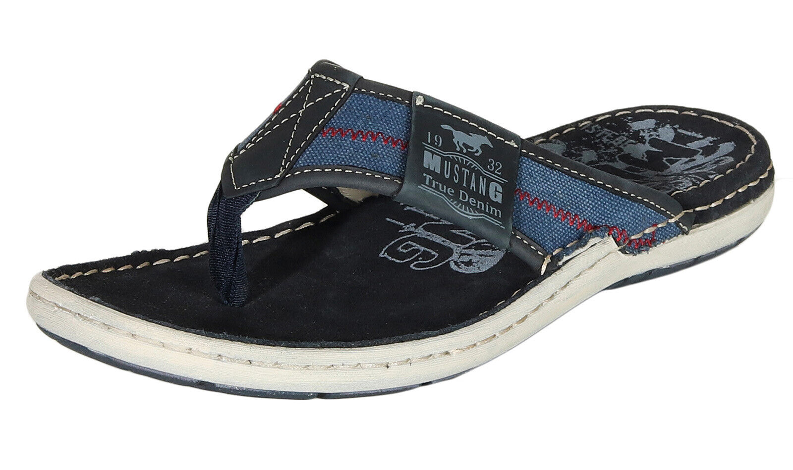Mustang Herren Sandalen Schuhe Zehentrenner Sommerschuhe Pantoletten 4923-703