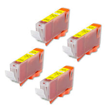 4 YELLOW Ink Tank + smart chip for Canon CLI-8Y MP830 MX850 Pro9000 Mark II