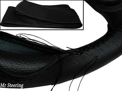 FOR VAUXHALL TIGRA A 1994-2000 REAL BLACK LEATHER STEERING WHEEL COVER