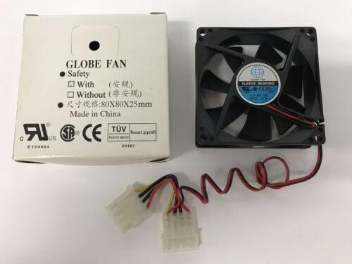 Globe Sleeve Bearing Fan S01138812M-3M 12V 0.17A 4-Pin BRAND NEW!