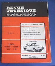 Revue technique RTA 329 Skoda 1000 MB 1100 MB S 100 S 110