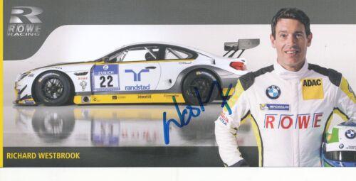 Richard Westbrook  BMW  Auto Motorsport Karte original signiert 289926