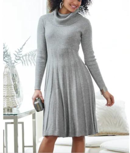size small Silver Metallic Deshong Sweater Dress from Ashro new