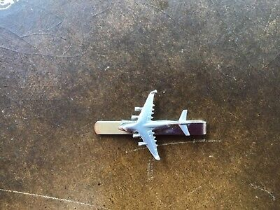 Boeing C-17 Globemaster III C20 Plane Fine English Modern Pewter on a Tie Clip slide