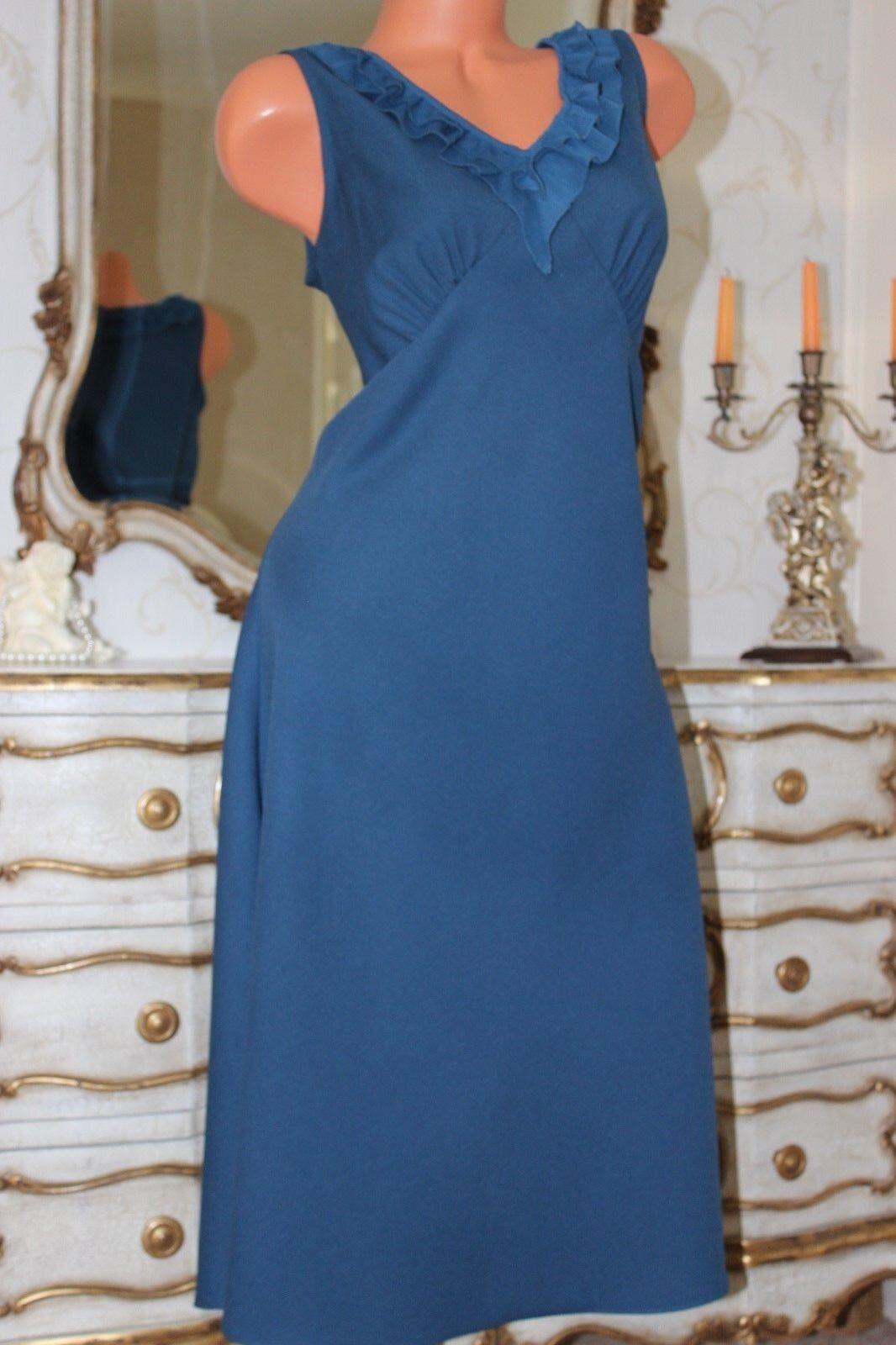 (Ref 27) NIGHTINGALES Petrol Blau Bias Cut A Line Ladies dress Größe 14