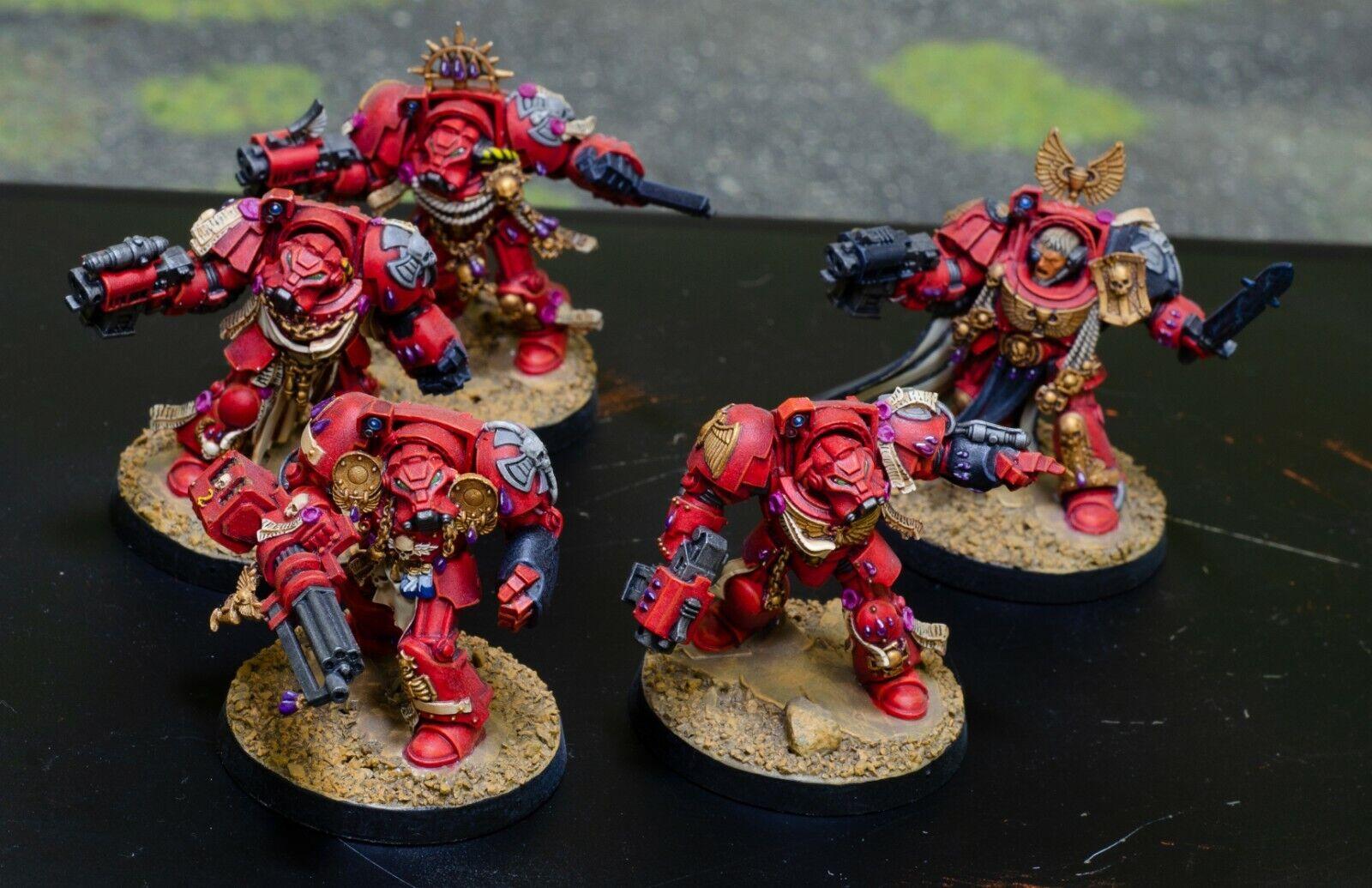 Warhammer  40k Blood Angels Terminator Squad  branché
