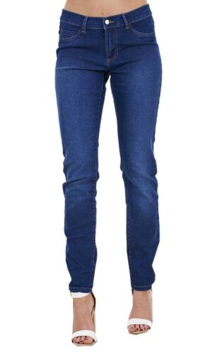 Ladies Skinny Womens Slim Fit Denim Cotton  Blue Stretch Jeans