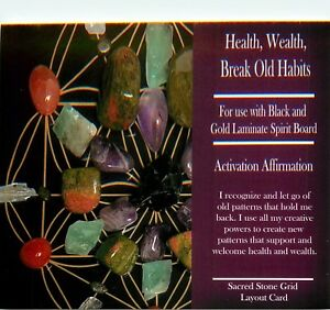 HEALTH-WEALTH-BREAK-OLD-HABITS-Grid-Card-4x6-034-Heavy-Cardstock-Use-with-Crystals