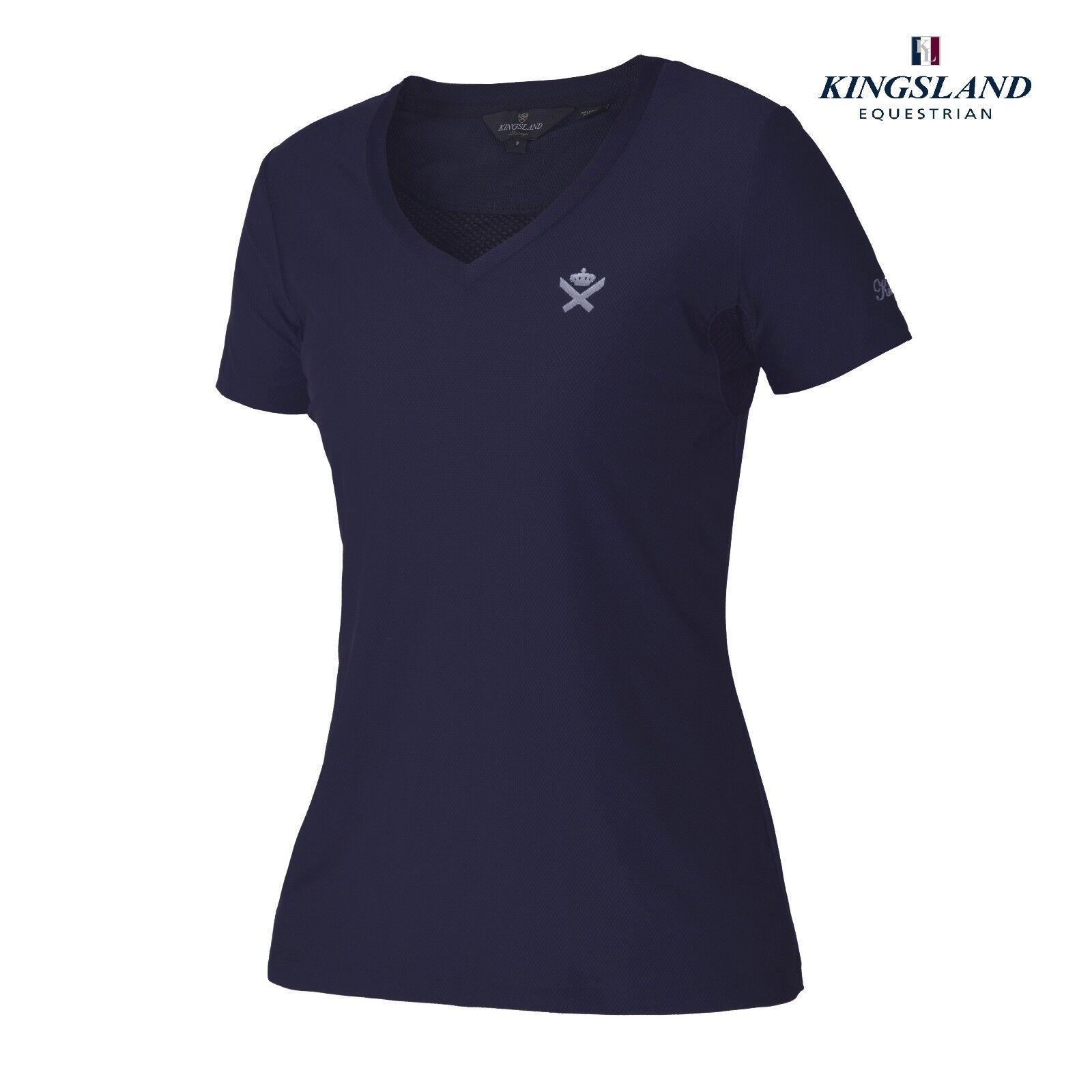 Kingsland Brentina Ladies T-shirt bluee medieval Ladies 186-PT-413 Sale