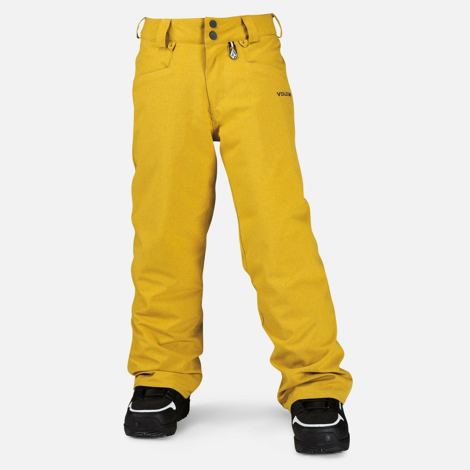 2015 NWT BOYS VOLCOM LEGEND INSULATED SNOWBOARD PANTS  110 M bronze gold yellow