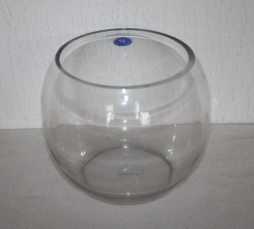 """7/"""" Table De Mariage Pièce Centrale Poissons en verre bulle bol"""