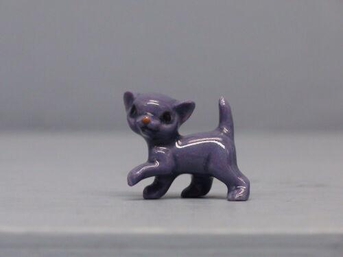 HTF Hagen Renaker Krazy Kritter Walking Kitten in Purple