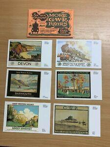 034-Plus-Gwr-Posters-034-Ensemble-de-6-non-Utilise-Cartes-Postales-Vintage-Chemin